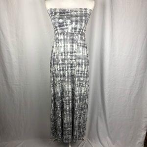 Cynthia Rowley tie dye strapless maxi dress Sz s